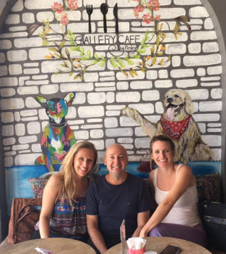 TEFL Trainee Lee, Stephen and Gena at Tefl Campus, Phuket, Thailand