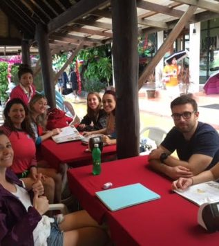 TEFL Campus Trainees Lunch in Phi Phi Island, Thailand