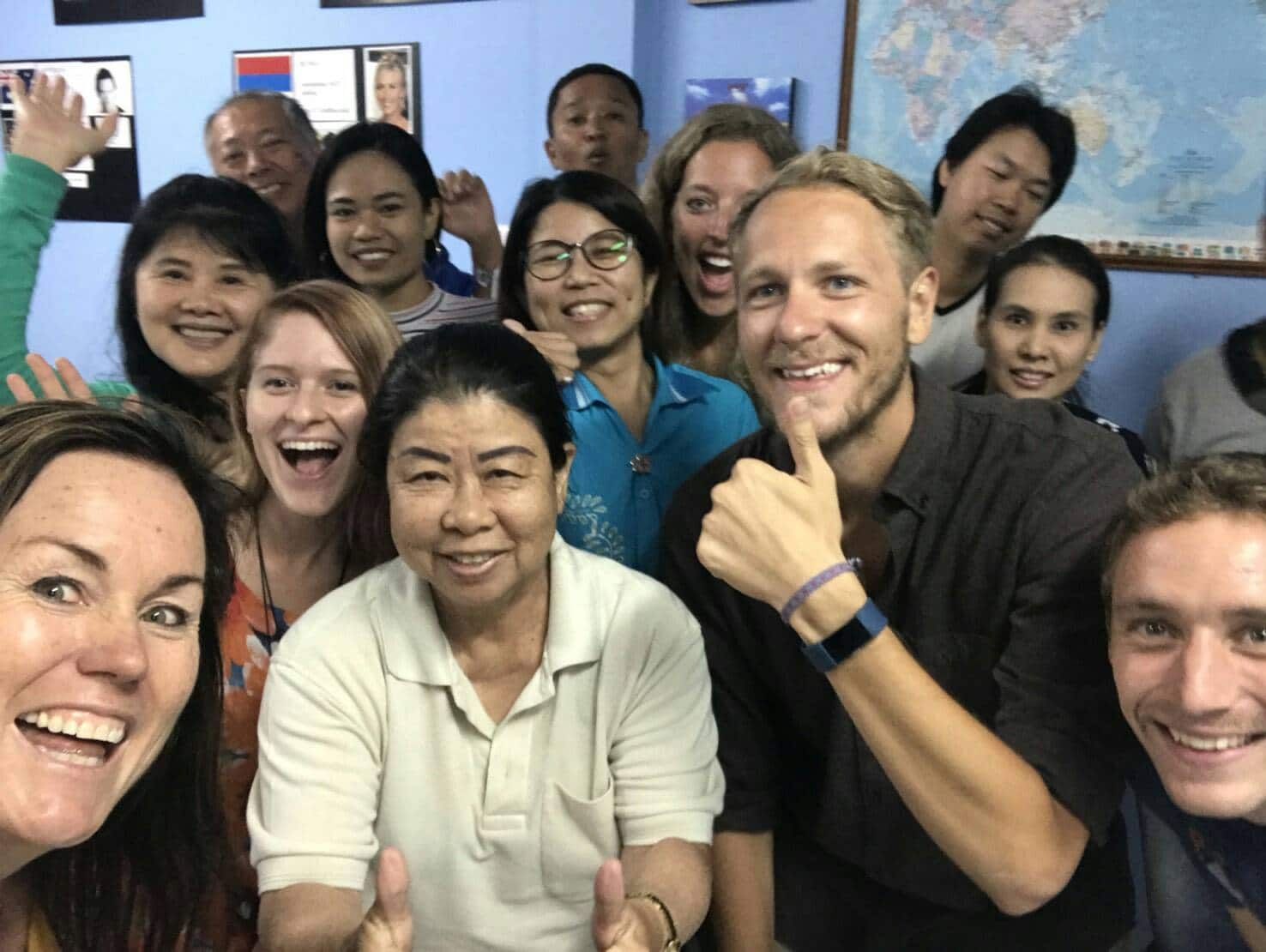 TEFL Course Trainees and Their Students at Tefl Campus, Phuket, Thailand
