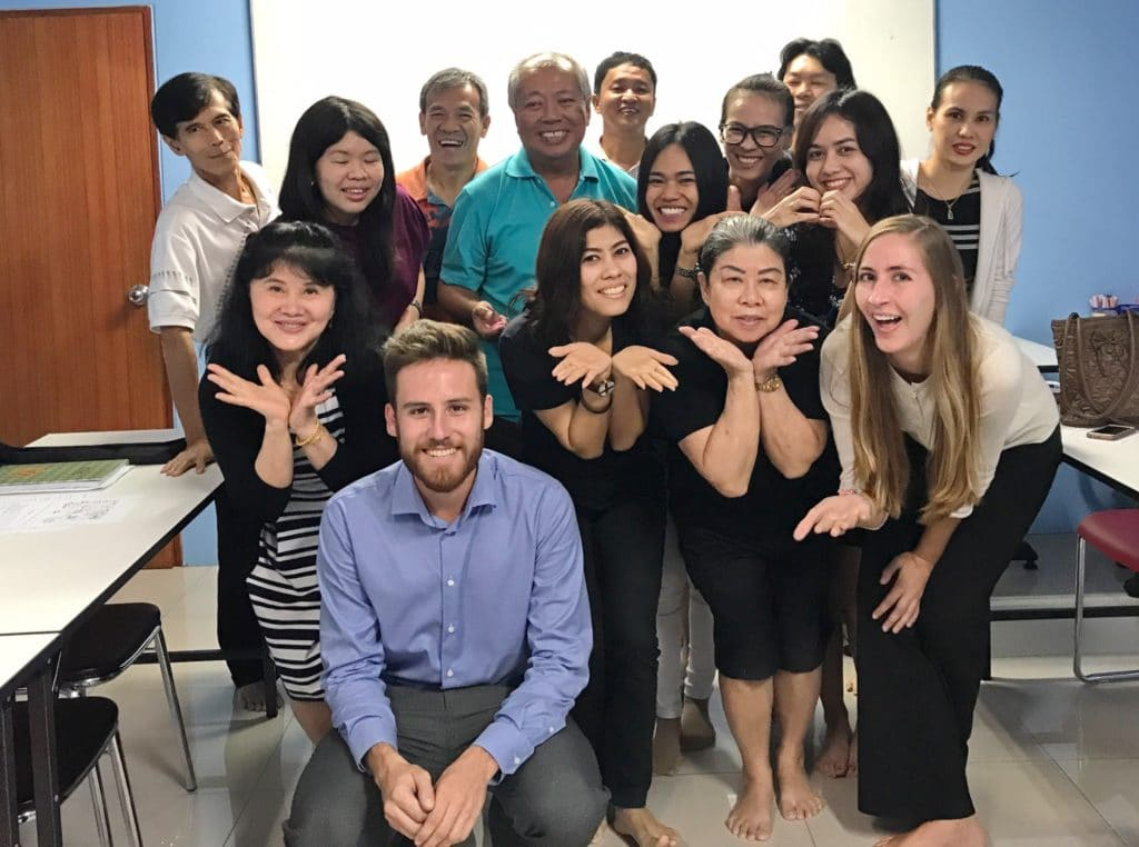 Pre-Intermediate English Language Students at Tefl Campus, Phuket, Thailand