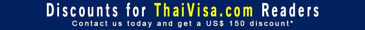 thaivisa.com discount banner